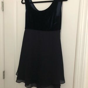 CDC Dark blue velvet cocktail dress
